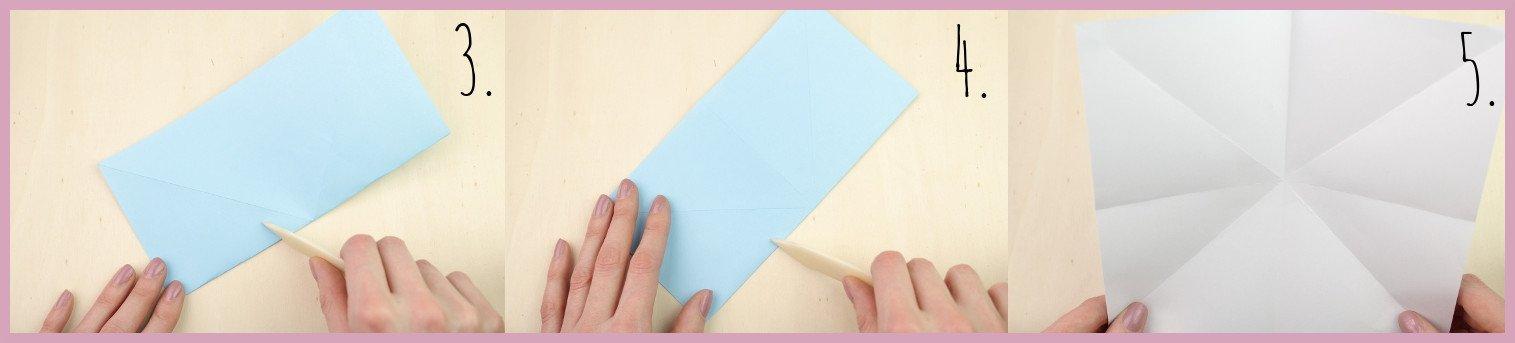 Anleitung Origami Huhn Schritt 3-5 von frau friemel