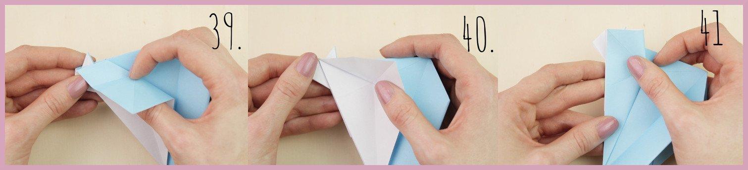 Anleitung Origami Huhn Schritt 39-41 von frau friemel