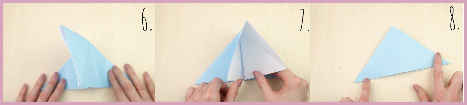 Anleitung Origami Huhn Schritt 6-8 von frau friemel