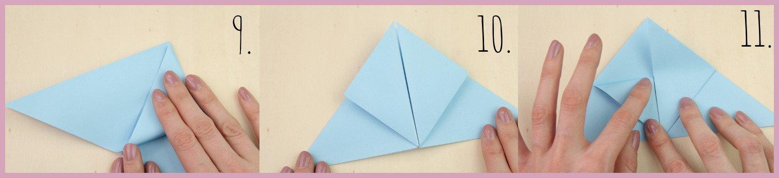 Anleitung Origami Huhn Schritt 9-11 von frau friemel