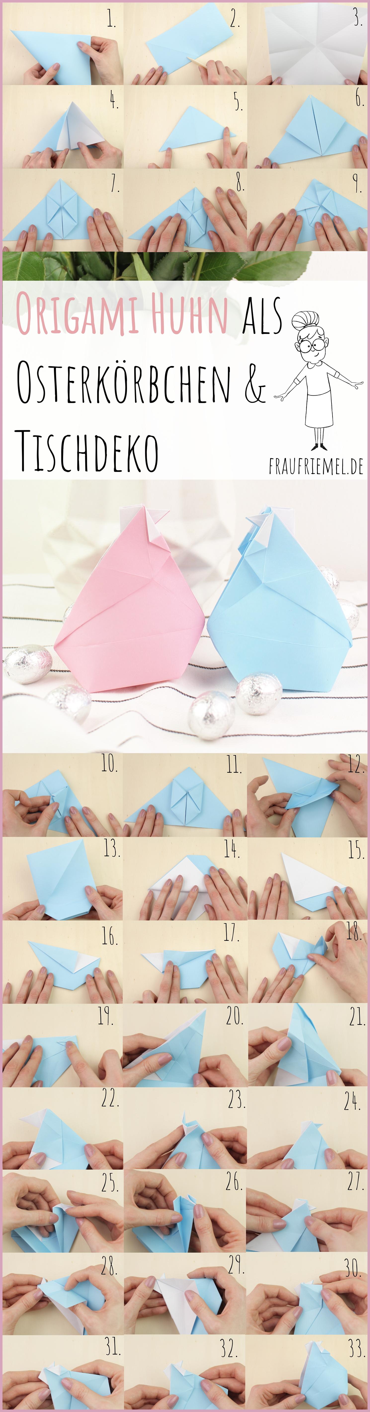 Gesamtanleitung Origami Huhn