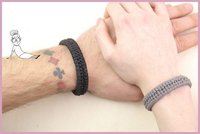Armbänder für Männer selber machen - Bastelanleitung von frau friemel