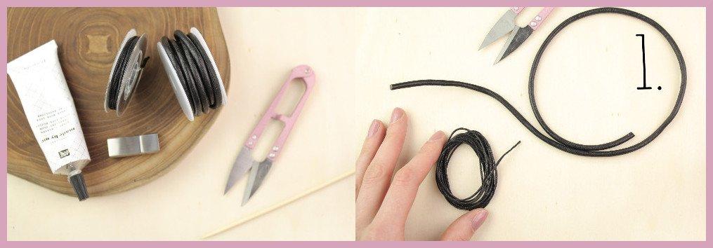 Armbänder für Männer selber machen Material und Schritt 1 - Bastelanleitung von frau friemel