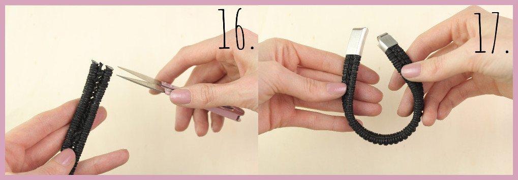 Armbänder für Männer selber machen Schritt 16-17 - Bastelanleitung von frau friemel