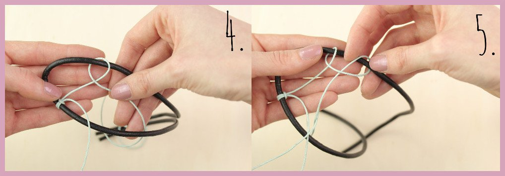 Armbänder für Männer selber machen Schritt 4-5 - Bastelanleitung von frau friemel