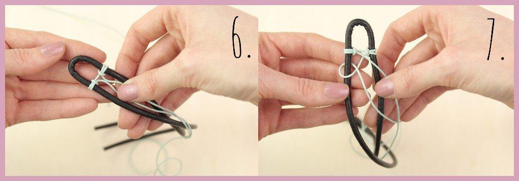 Armbänder für Männer selber machen Schritt 6-7 - Bastelanleitung von frau friemel