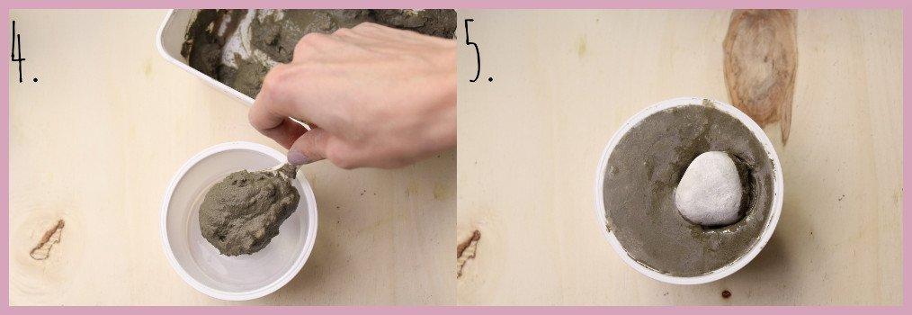 Teelichthalter aus Beton selber machen mit frau friemel Schritt 4-5