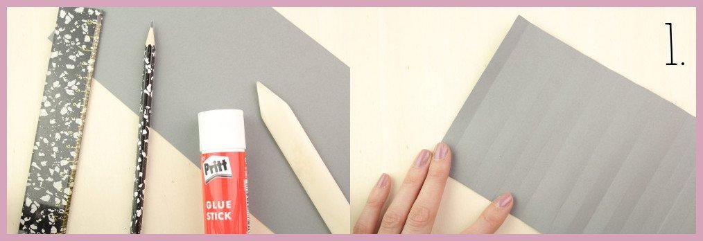 Kleine Vase aus Papier falten mit frau friemel Material und Schritt 1