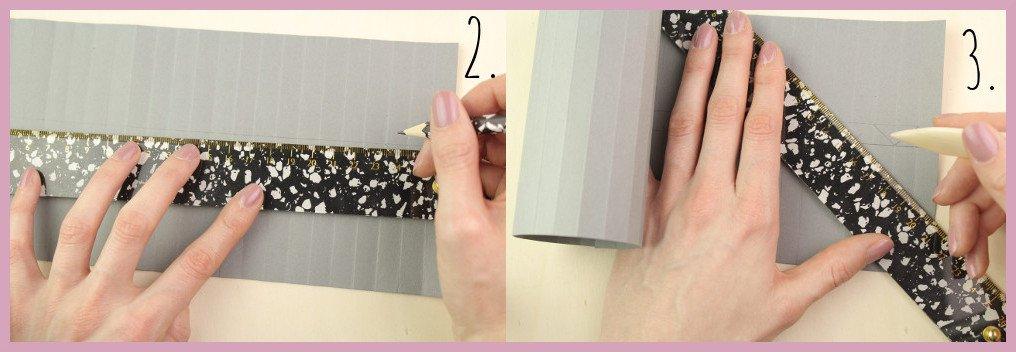 Kleine Vase aus Papier falten mit frau friemel Schritt 2-3