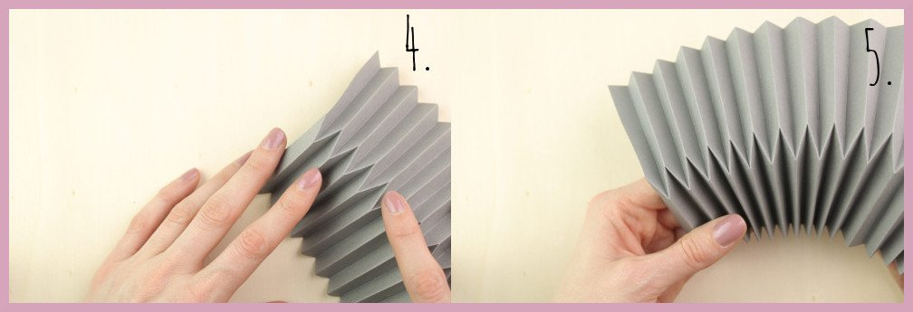Kleine Vase aus Papier falten mit frau friemel Schritt 4-5