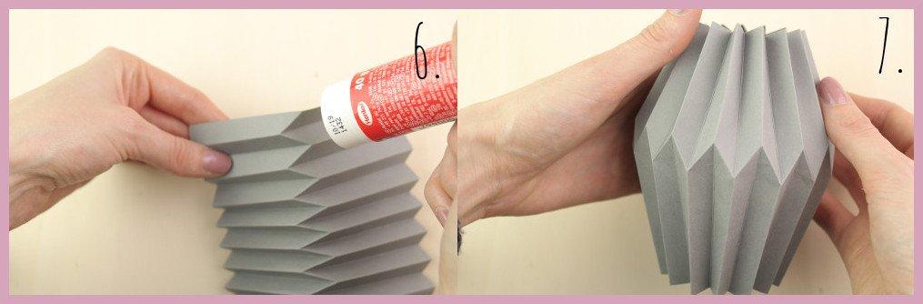 Kleine Vase aus Papier falten mit frau friemel Schritt 6-7