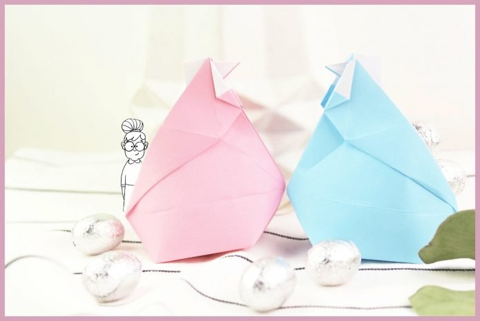 Origami Huhn Faltanleitung von frau friemel