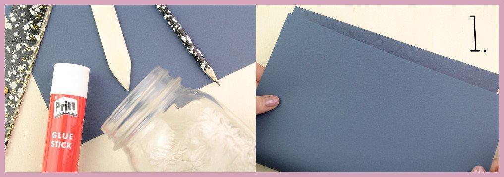 Vase aus Papier falten mit frau friemel Material und Schritt 1