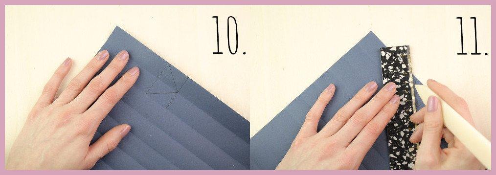 Vase aus Papier falten mit frau friemel Schritt 10-11