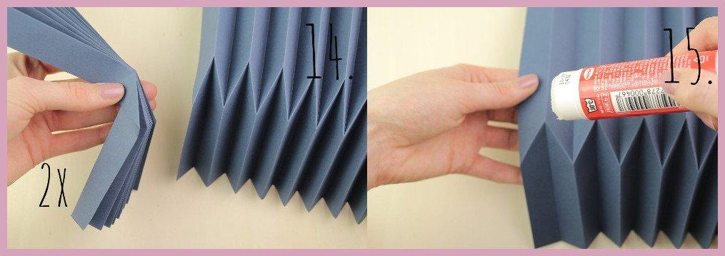 Vase aus Papier falten mit frau friemel Schritt 14-15