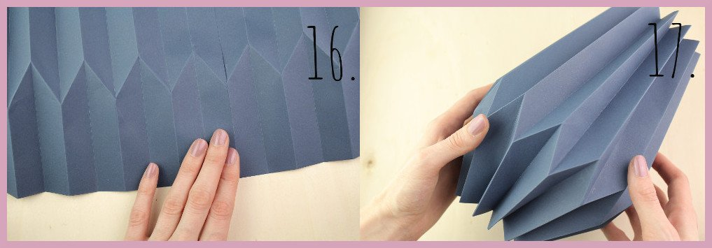 Vase aus Papier falten mit frau friemel Schritt 16-17