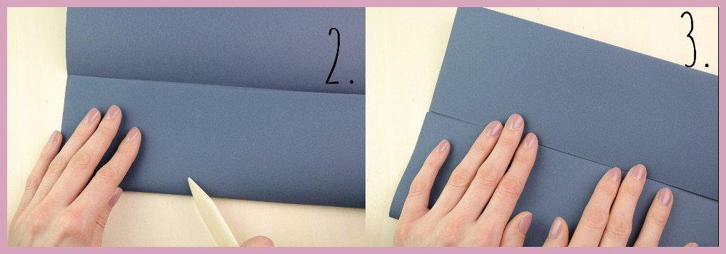 Vase aus Papier falten mit frau friemel Schritt 2-3