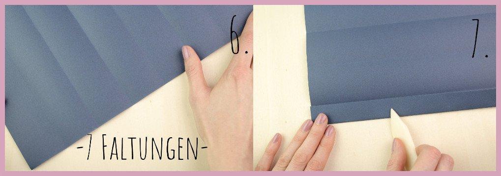 Vase aus Papier falten mit frau friemel Schritt 6-7