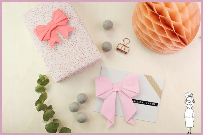 Origami Schleife Faltanleitung von frau friemel