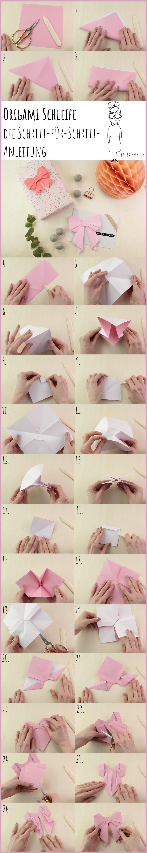 Origami Schleife Gesamtanleitung