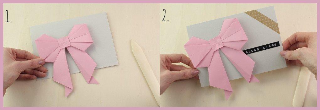 Origami Schleife als Grußkarte von frau friemel