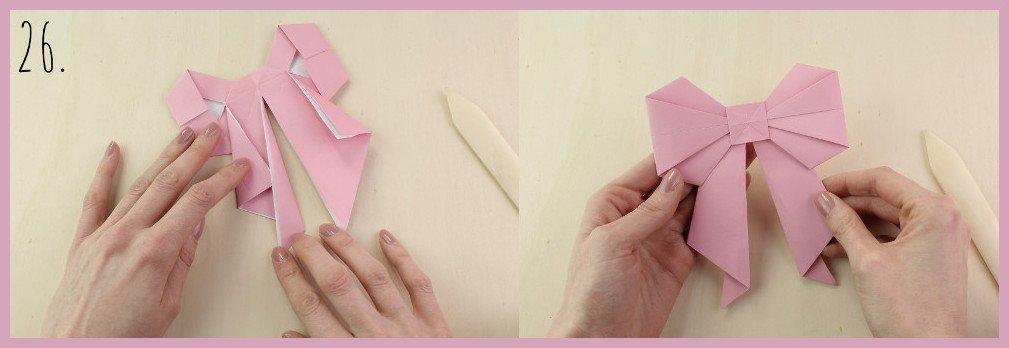 Origami Schleife falten Schritt 26 - Anleitung von frau friemel