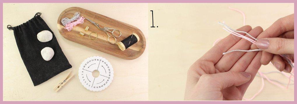 Schlüsselband selber machen mit frau friemel - Material und Schritt 1