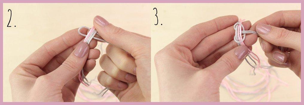Schlüsselband selber machen mit frau friemel - Schritt 2-3