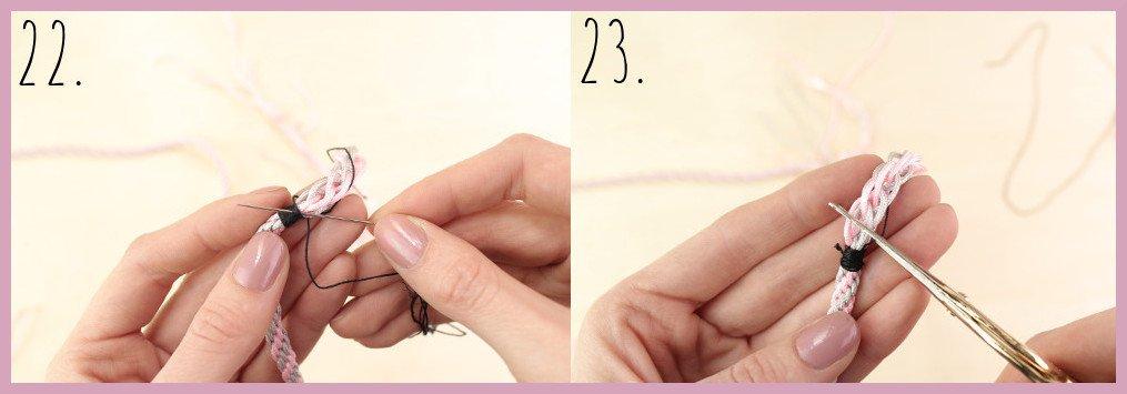 Schlüsselband selber machen mit frau friemel - Schritt 22-23
