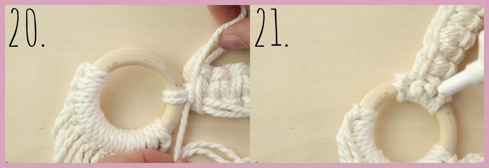 DIY Makramee Tasche knüpfen mit frau friemel - Material und Schritt 20-21