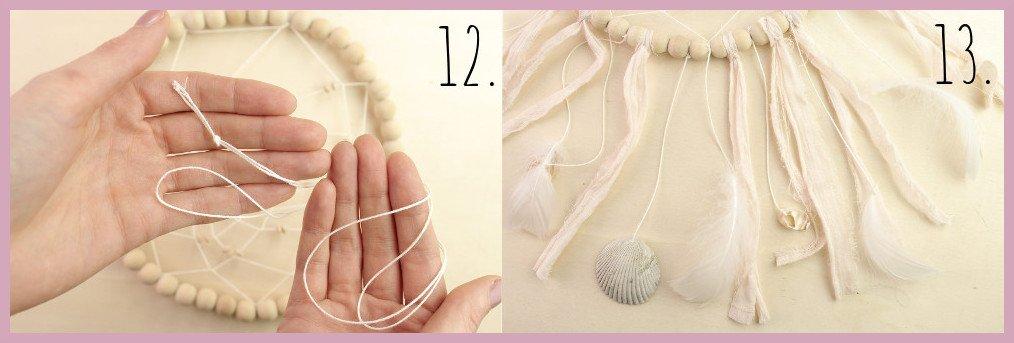 Traumfänger basteln mit frau friemel Schritt 12-13