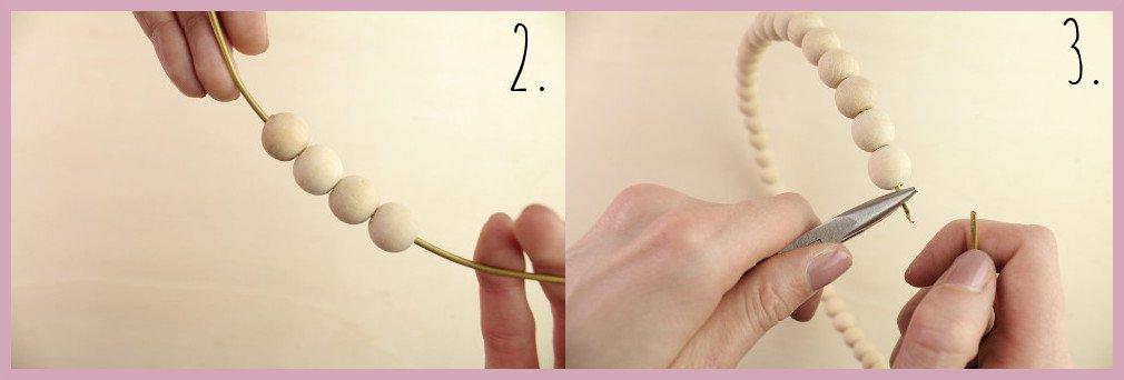 Traumfänger basteln mit frau friemel Schritt 2-3