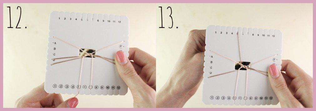 Brillenkette basteln mit frau friemel - Schritt 10-11