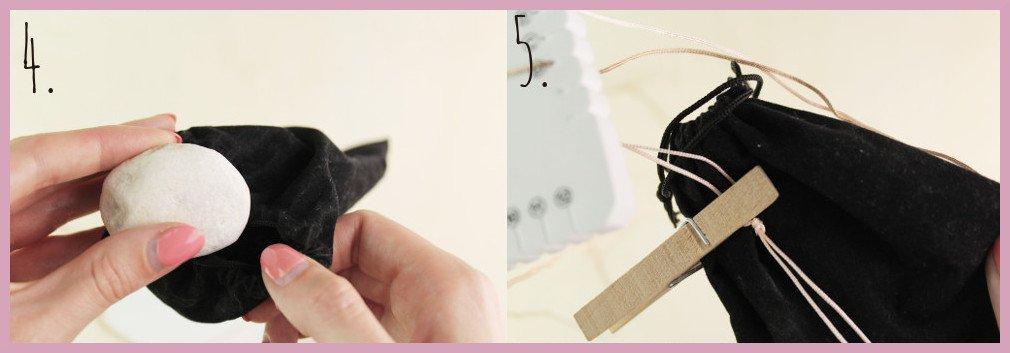 Brillenkette basteln mit frau friemel - Schritt 4-5