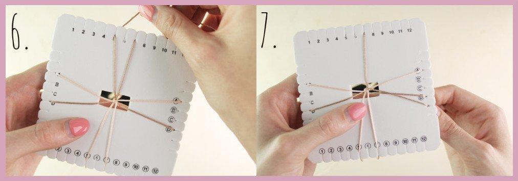 Brillenkette basteln mit frau friemel - Schritt 6-7