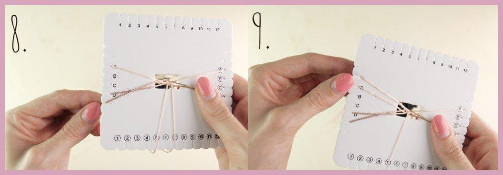 Brillenkette basteln mit frau friemel - Schritt 8-9