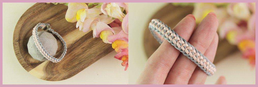 DIY Armband mit Kumihimo Technik flechten