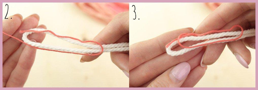 DIY Anleitung - Einfaches Makramee Armband knüpfen - Schritt 2-3