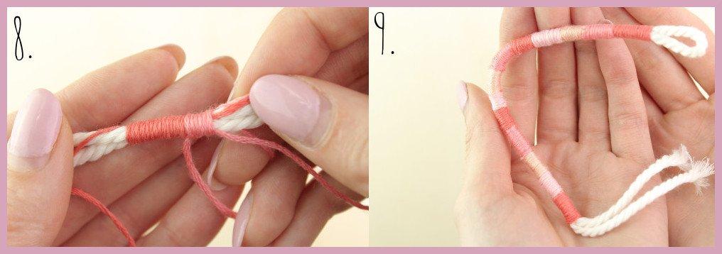 DIY Anleitung - Einfaches Makramee Armband knüpfen - Schritt 8-9