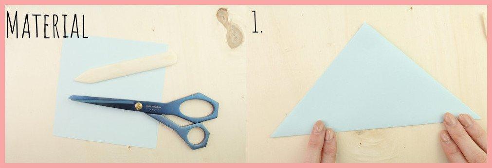 DIY Anleitung Papiertüte falten mit frau friemel - Schritt 1