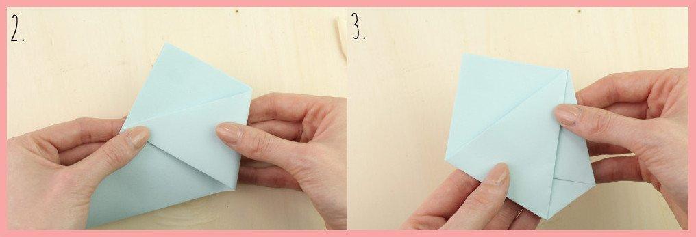 DIY Anleitung Papiertüte falten mit frau friemel - Schritt 2-3