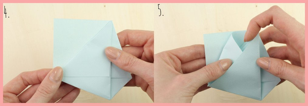 DIY Anleitung Papiertüte falten mit frau friemel - Schritt 4-5