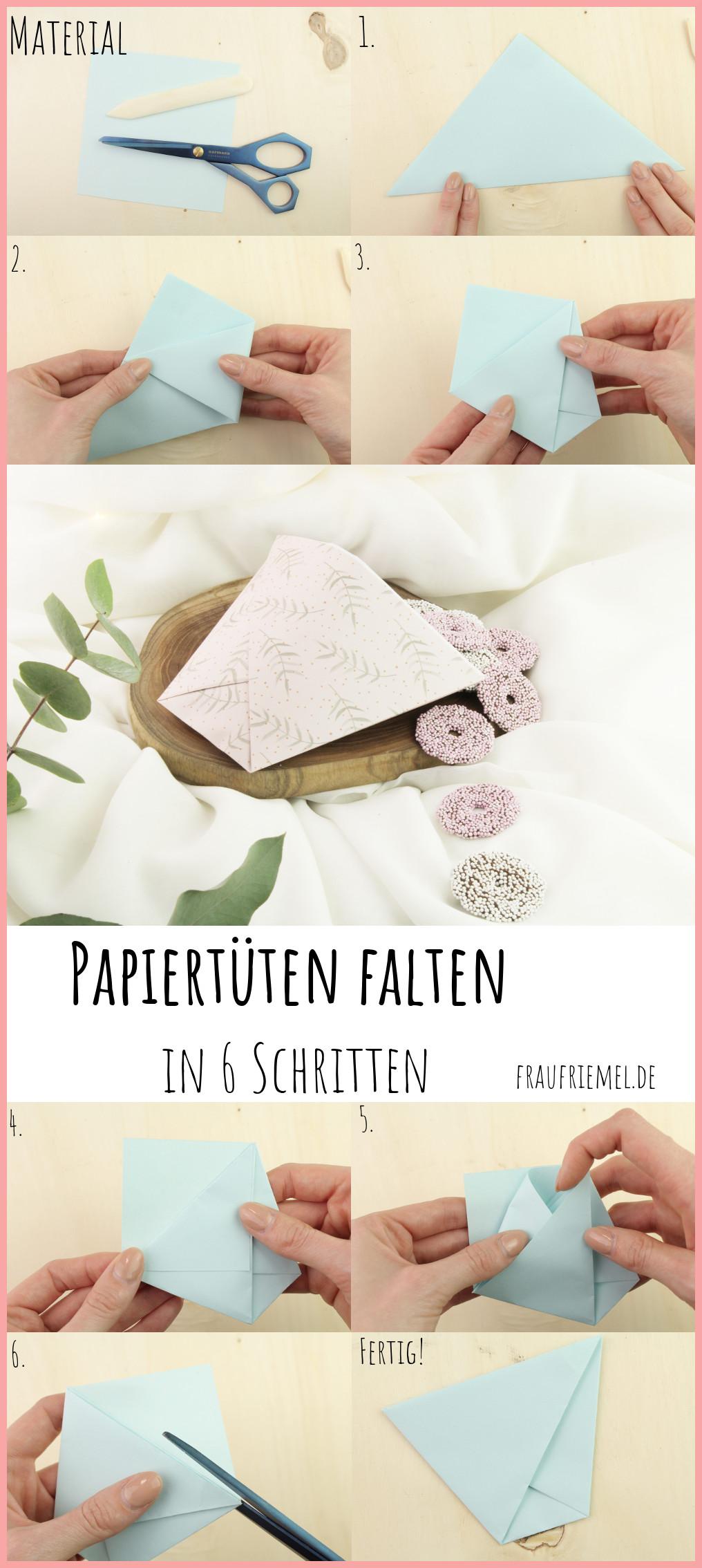 DIY Anleitung Papiertüte falten mit frau friemel