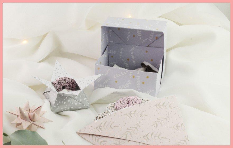 DIY Anleitung für Origami Sternschachtel falten - frau friemel