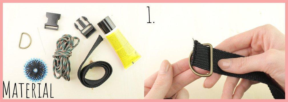 Halsband selber machen mit frau friemel - Material und Schritt 1