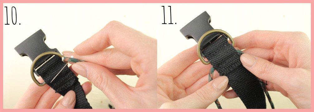 Halsband selber machen mit frau friemel - Schritt 10-11