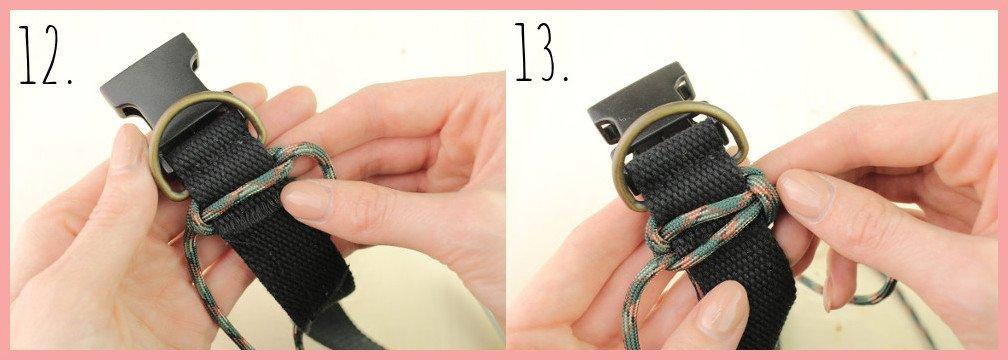 Halsband selber machen mit frau friemel - Schritt 12-13