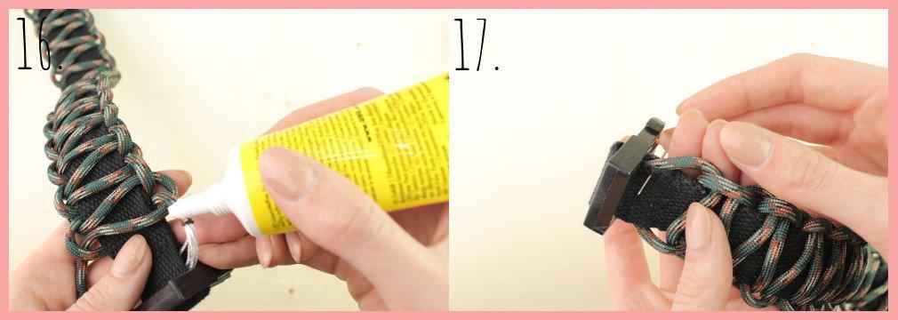 Halsband selber machen mit frau friemel - Schritt 16-17