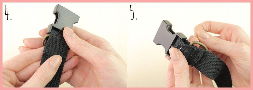 Halsband selber machen mit frau friemel - Schritt 4-5