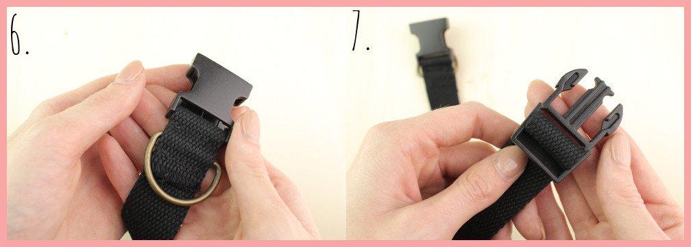 Halsband selber machen mit frau friemel - Schritt 6-7